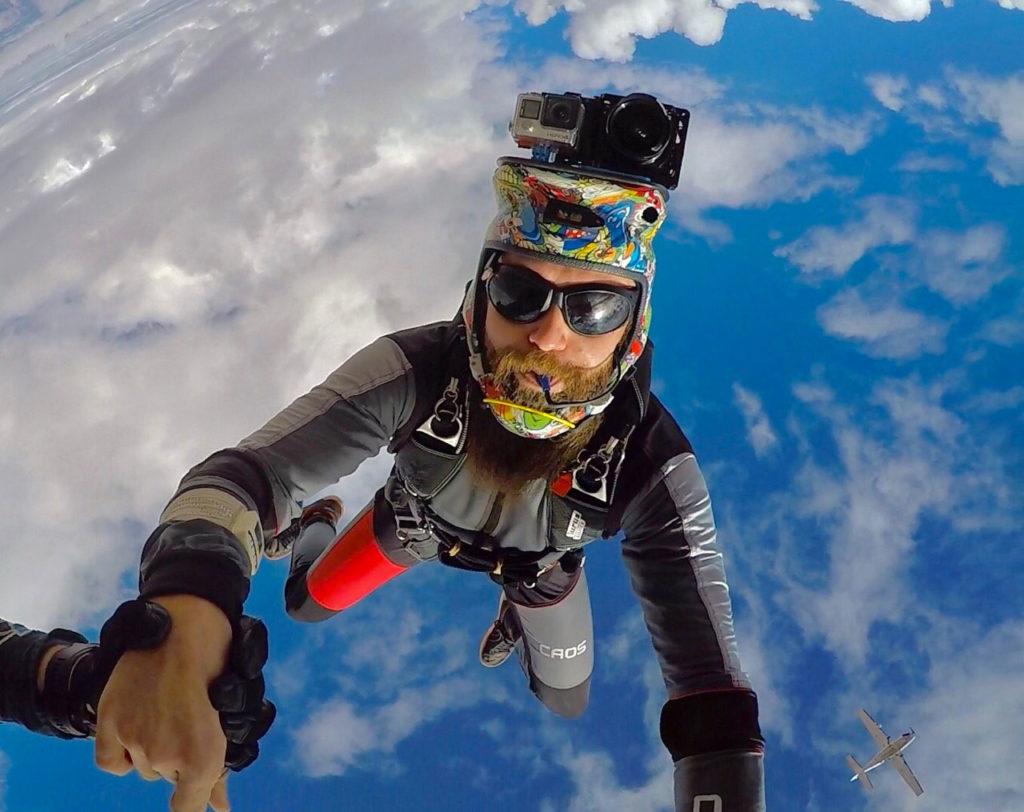 cameraman at Skydive Mesquite near southern Utah