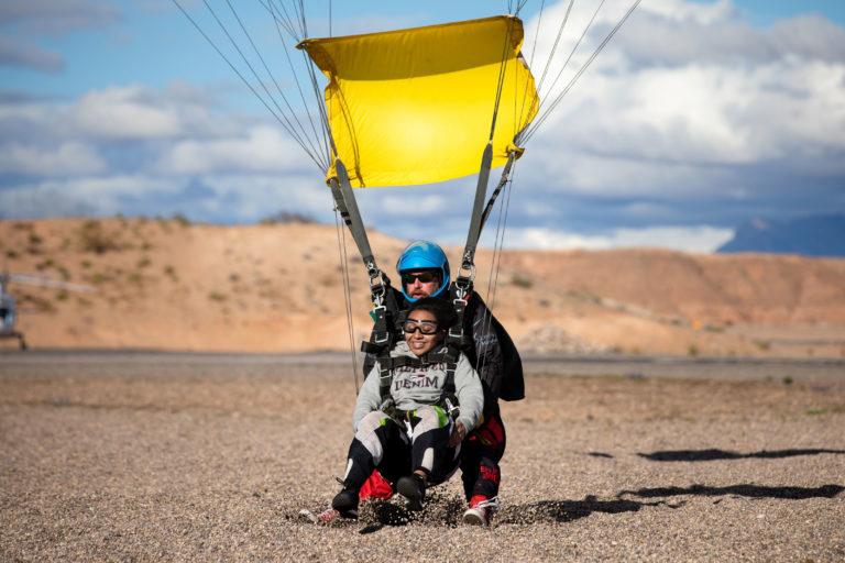 tandem landin at Skydive Mesquite