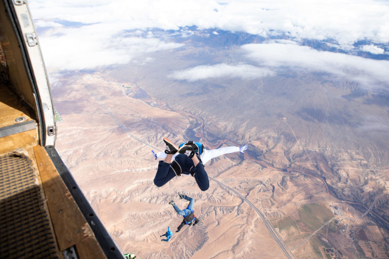 Jumping out of plane near utah and Las Vegas