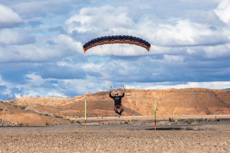 Parachute landing at Skydive Mesquite