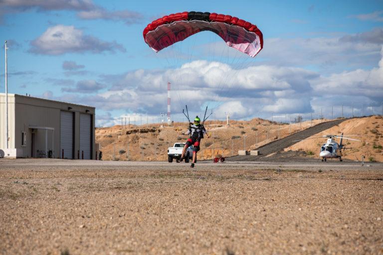 Landing Parachute at Skydive Mesquite